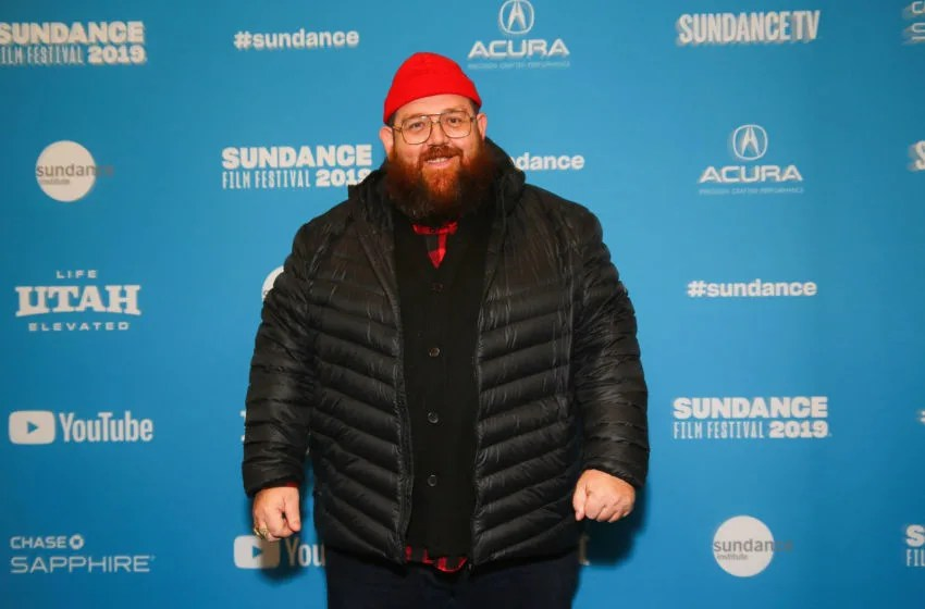 PARK CITY, UTAH - JANUARY 28: Actor Nick Frost poses for a photo at a Sundance special screening of