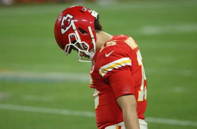 Patrick Mahomes, Kansas City Chiefs. (Photo by Patrick Smith/Getty Images)