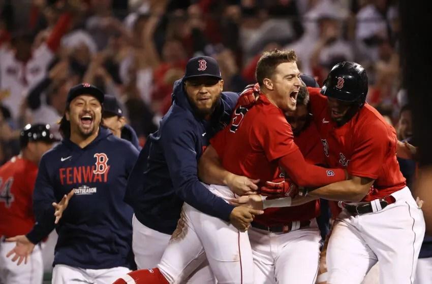 Boston Red Sox Enrik Hernandez # 5.  (Imágenes de Winslo Townson / Getty)
