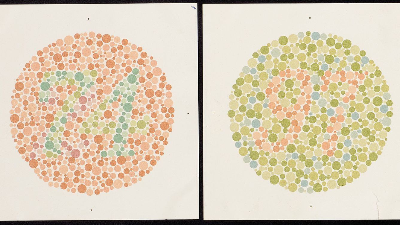 hight resolution of eye doctors still use this 100 year old test for color blindness
