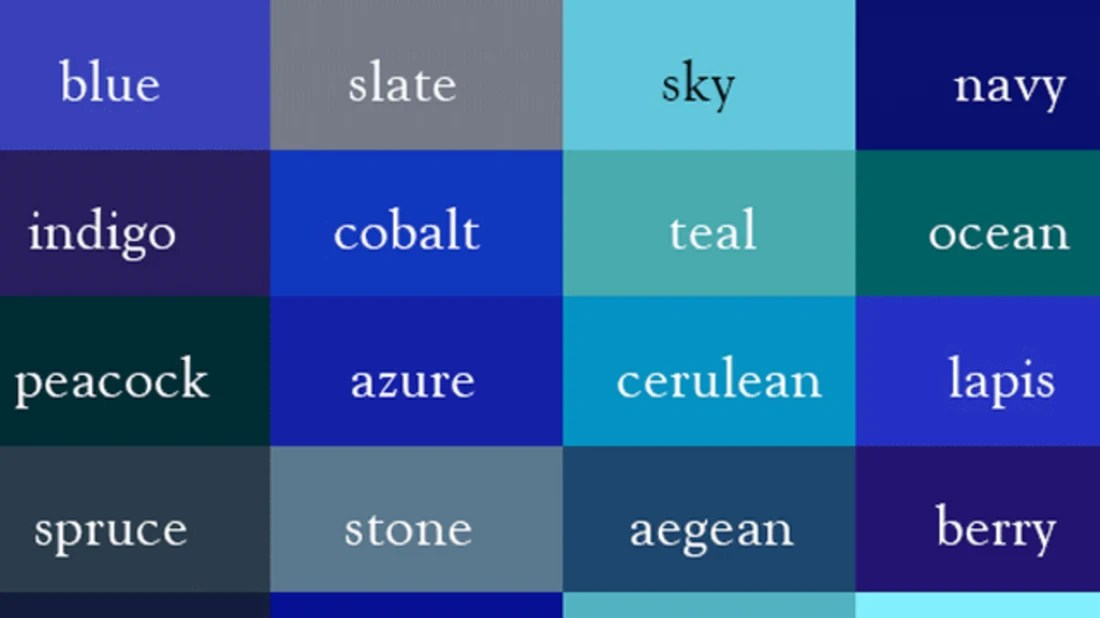 name every shade of