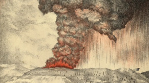 Image result for 1883 – Krakatoa begins to erupt; the volcano explodes three months later, killing more than 36,000 people.