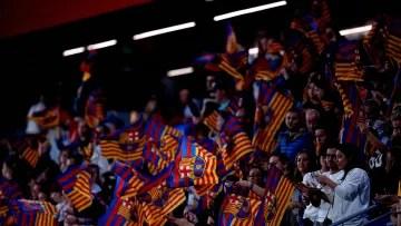 Barcelona fans at the Johan Cruyff Stadium