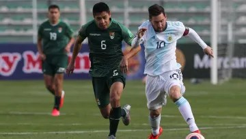Messi playing against Bolivia