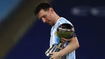 The statistics of the Argentine national team before and after the debut of Lionel Messi.