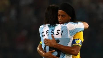 Messi and Ronaldinho at the Olympics