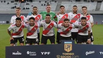 River Plate v Velez Sarsfield - Professional League Tournament 2021 - River's starting XI.