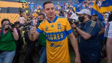 Florian Thauvin in his presentation as a Tigres player