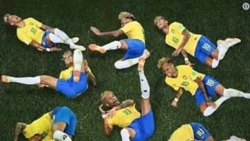 Neymar again exaggerated in some plays and the referee did not buy all the fouls.