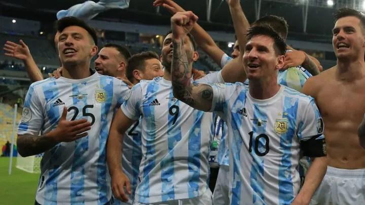 Lionel Messi, Sergio Agüero, Giovani Lo Celso