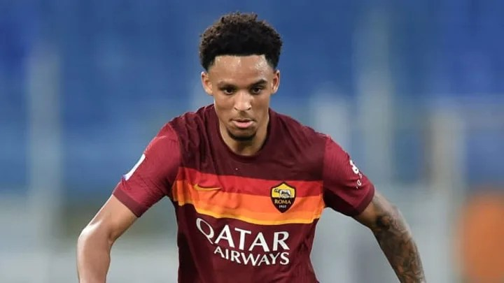 Bryan Reynolds of AS Roma in action during the Serie A ...