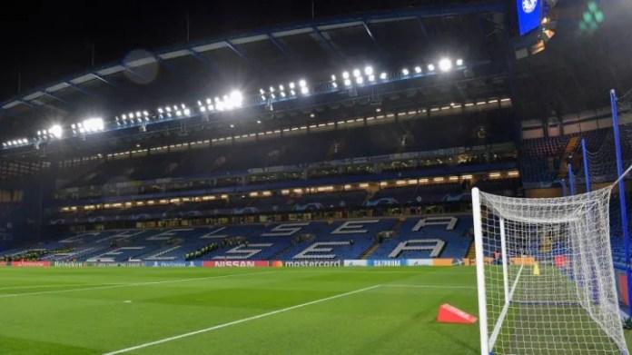 pamje e përgjithshme brenda stadiumit Stamford Bridge