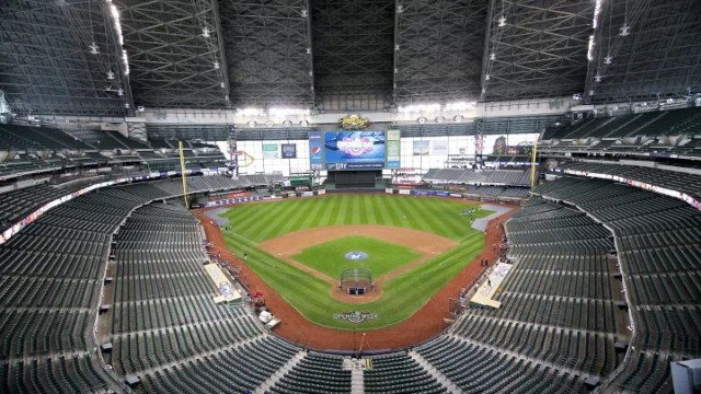 An unidentified person broke into Miller Park, home of the Milwaukee Brewers