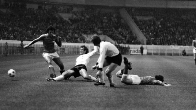 France's Olivier Rouyer settled the 1977 clash with a superb looping strike
