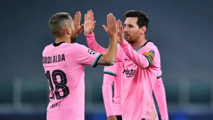 Jordi Alba, Lionel Messi