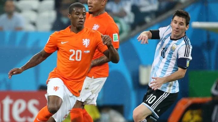 Netherlands v Argentina Semi Final 2014 FIFA Wor c96ad5a67f56277f9e296a8f2b2ea900