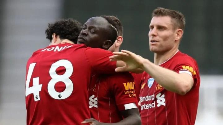 Mane celebra su gol decisivo ante el Newcastle