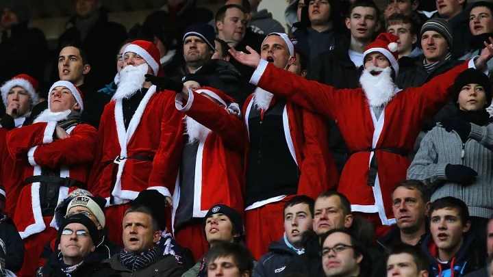 The last time football was played on Christmas Day in England