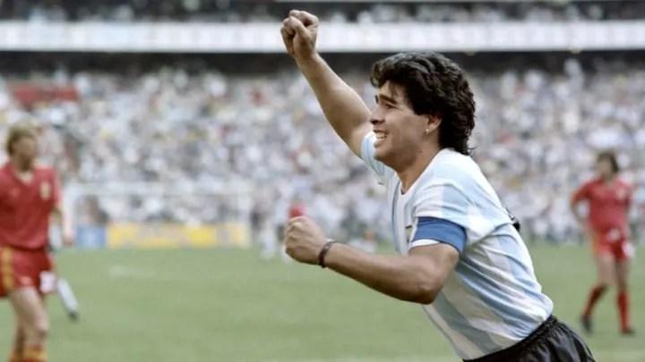 WORLD CUP-1986-ARG-BELG-MARADONA