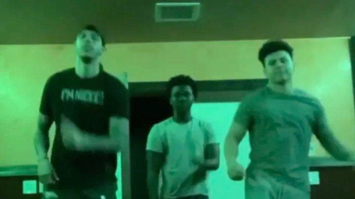 Lonzo Ball dancing with her friends