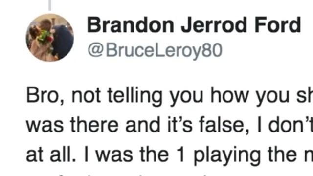 Former Clemson TE Brandon Ford on Twitter