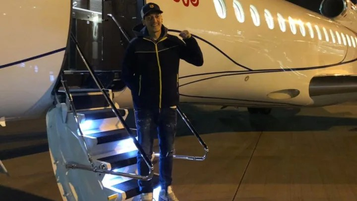 Mesut Ozil pictured touching down in Turkey ahead of Fenerbahce deal