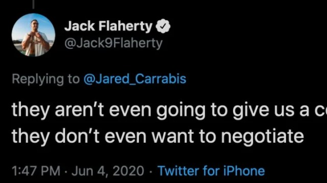 St. Louis Cardinals right-hander Jack Flaherty tweeted a depressing indictment on the fate of the 2020 season.