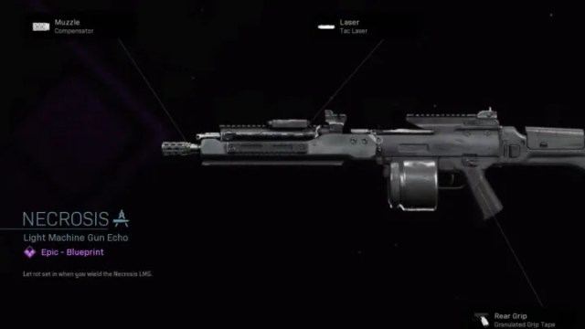 Necrosis Blueprint Warzone is a variant of the Holger-26 LMG.
