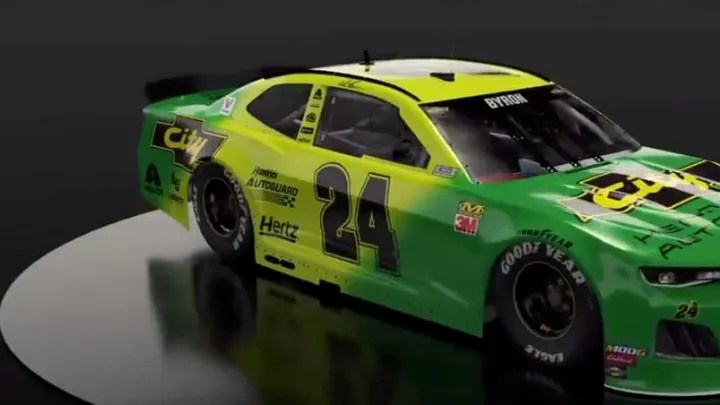 Racer William Byron Reveals Days Of Thunder Inspired Color Scheme