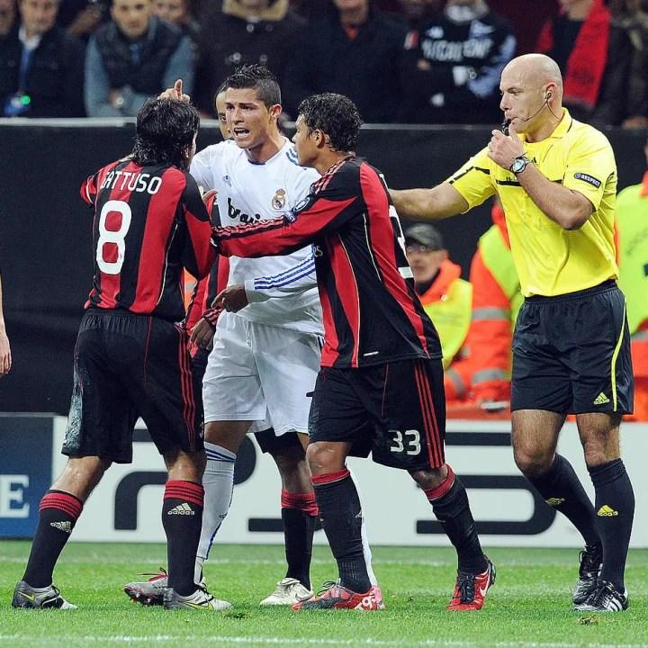 Gennaro Gattuso, Cristiano Ronaldo, Kevin Prince Boateng, Howard Webb