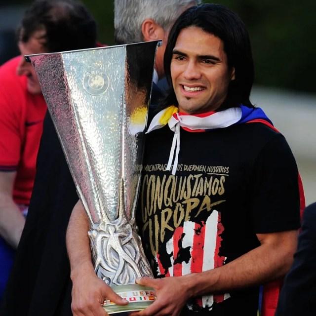 Radamel Falcao was a Europa League winner with Porto & Atletico Madrid