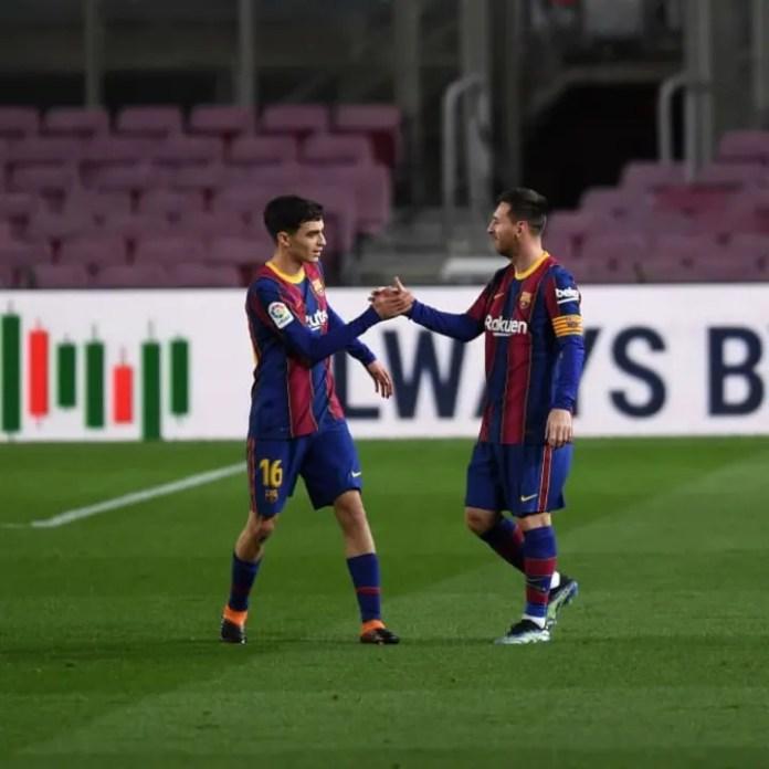 Pedri, Lionel Messi
