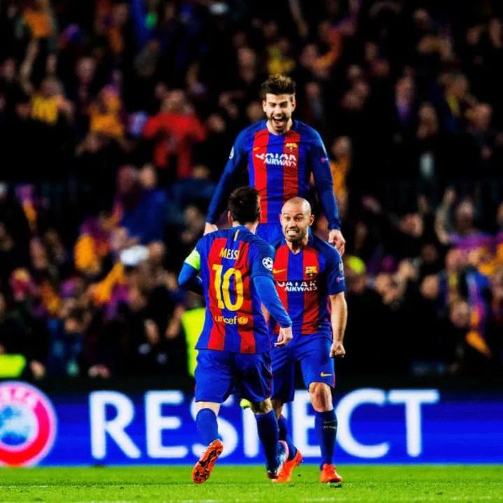 Lionel Messi, Javier Mascherano, Gerard Piqué