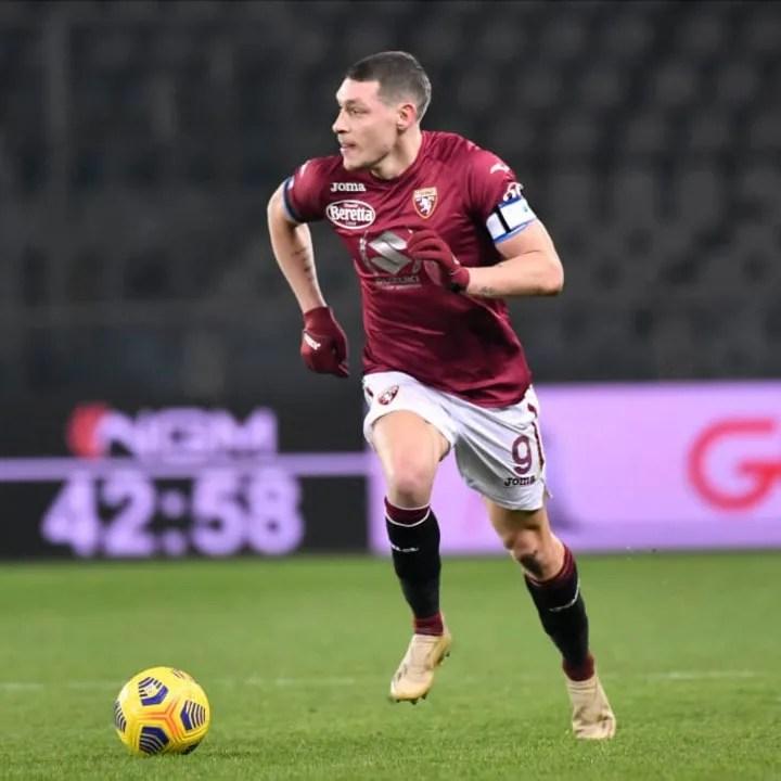 Belotti has nine league goals so far in Serie A this season