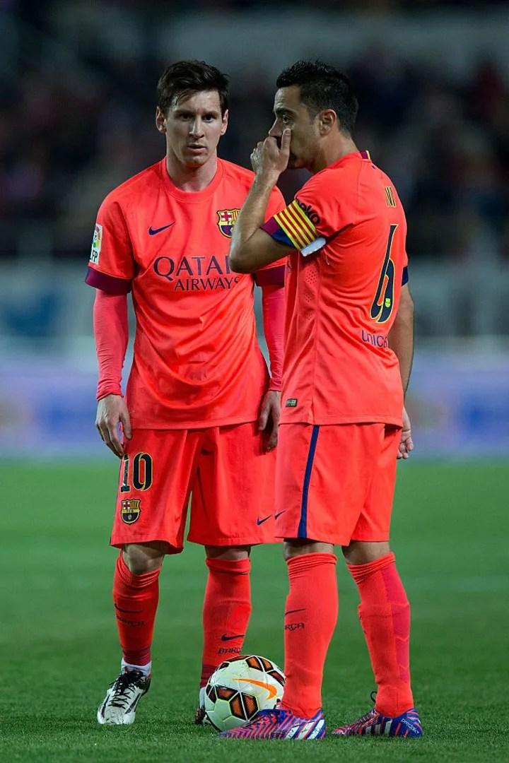 Xavi Hernandez, Lionel Messi