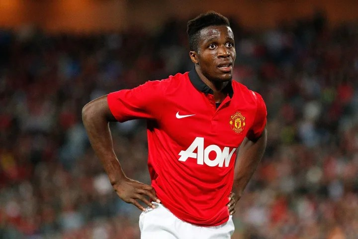 Zaha made little impact at Old Trafford