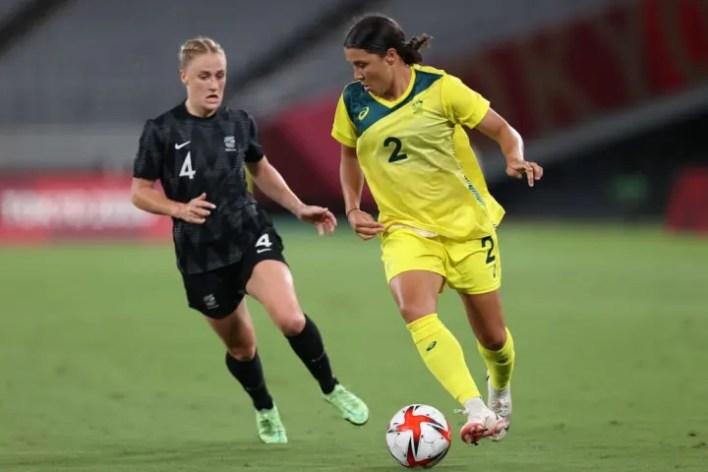 Sam Kerr & Australia ultimately made light work of New Zealand