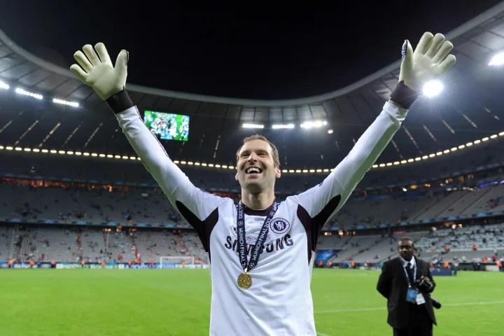 Chelsea's Czech goalkeeper Petr Cech cel