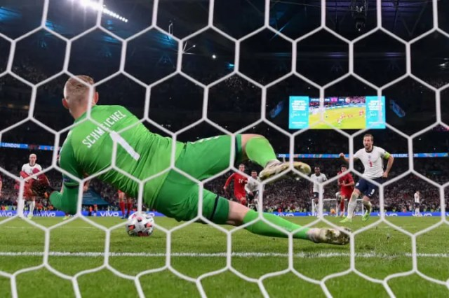 England have already been charged by UEFA after a fan shone a laser pen at Kasper Schmeichel