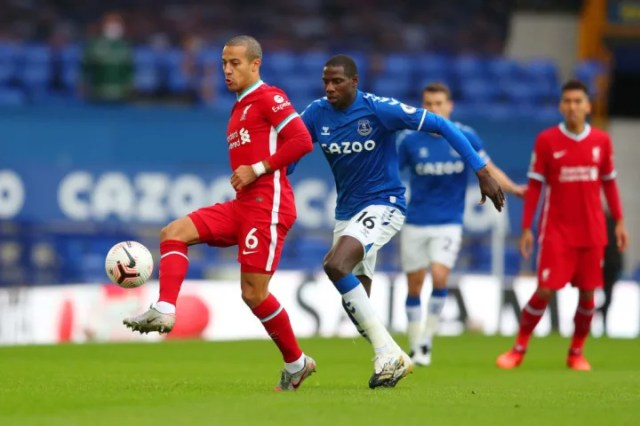 Thiago suffered an injury against Everton