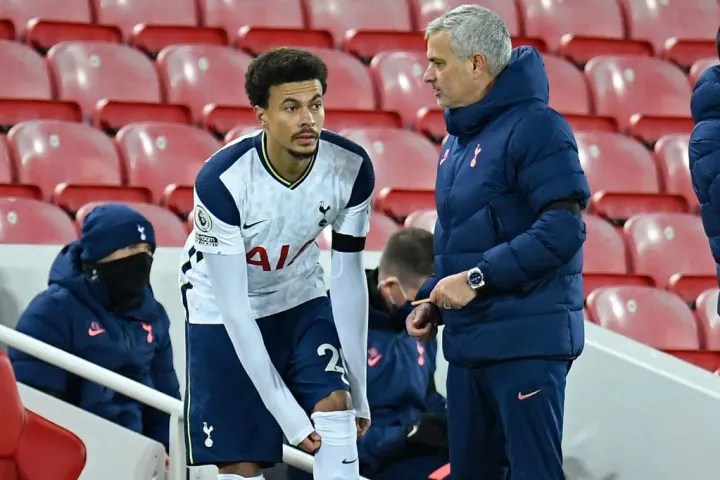 Alli has failed to cement his place in the Spurs starting XI since Mourinho's arrival
