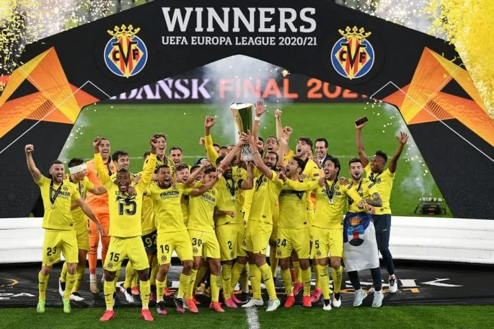 Villarreal celebrate their win