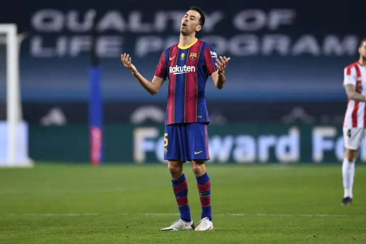 Sergio Busquets was assertive in midfield