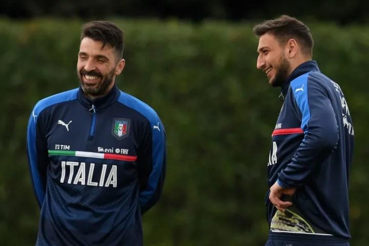 Gianluigi Buffon, Gianluigi Donnarumma
