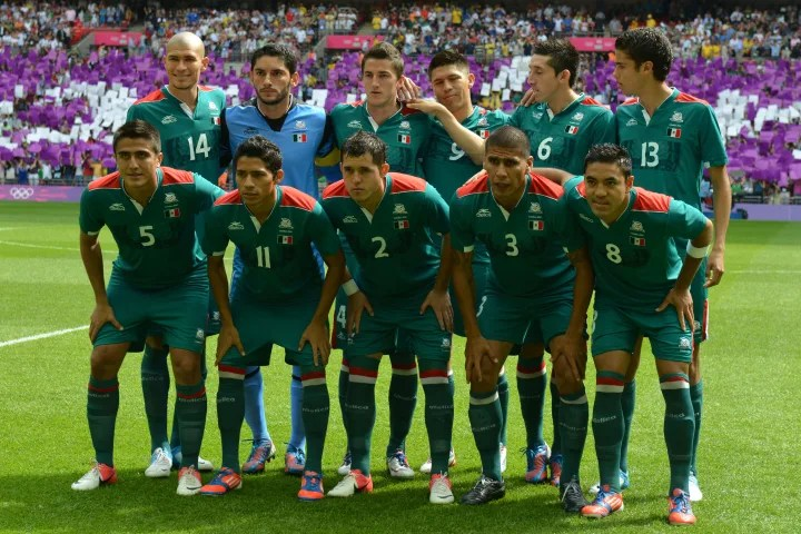 Mexico's football team players (from top