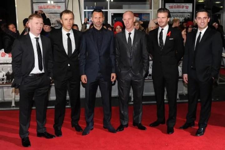 Paul Scholes, Phil Neville, David Beckham, Nicky Butt, Ryan Giggs, Gary Neville