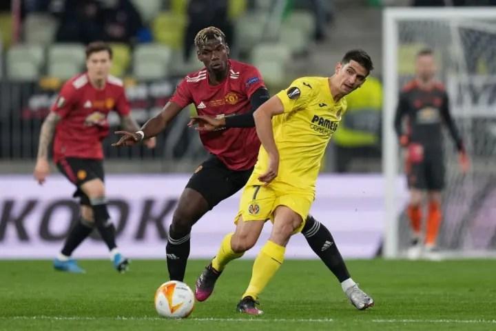 Gerard Moreno moves away from Paul Pogba