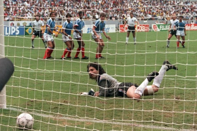 Andreas Brehme's effort hands West Germany the lead
