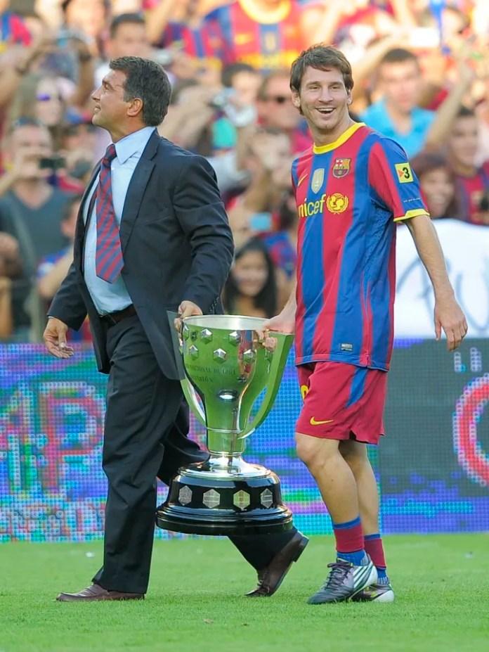 Ish Presidenti i Barcelonës Joan Laport