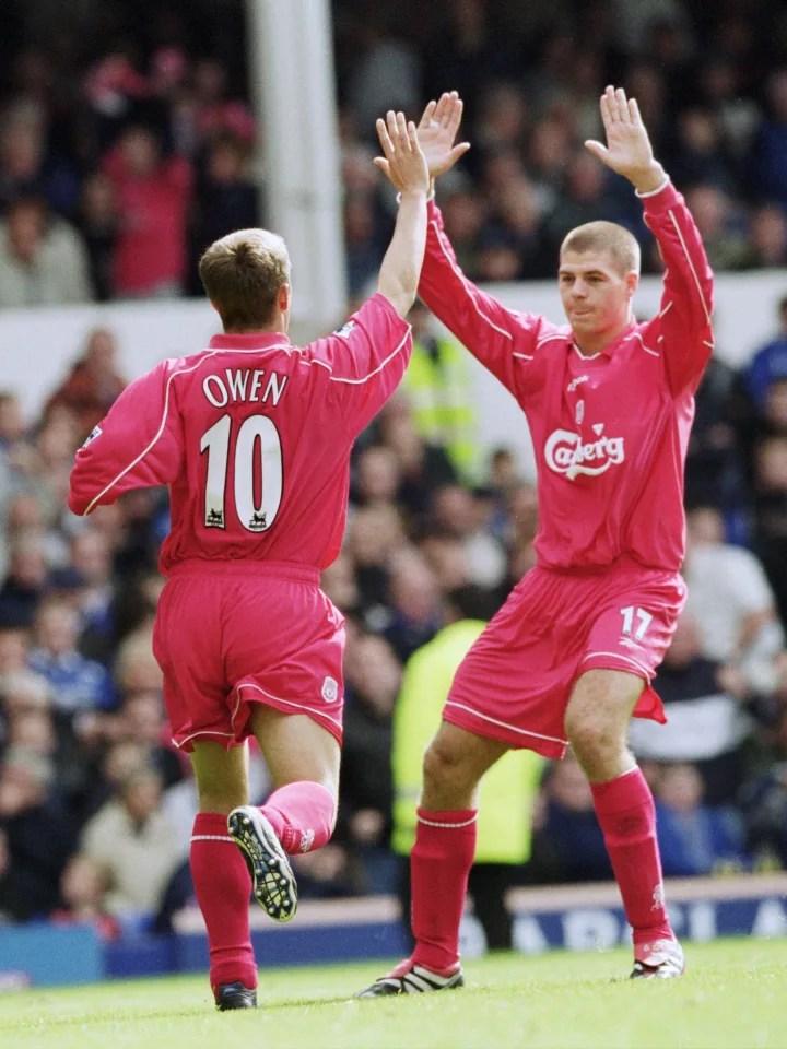 Michael Owen, Steven Gerrard